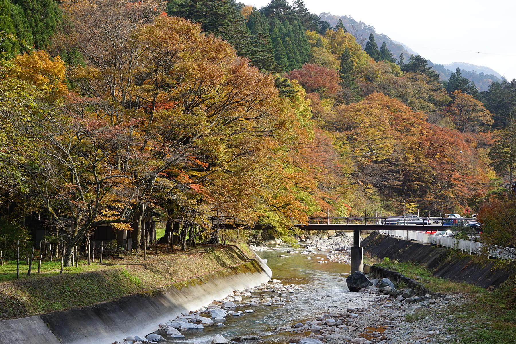 秋-6 紅葉の四万川